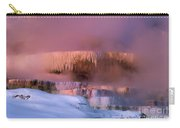 Limestone Artwork Minerva Springs Yellowstone National Park Carry-all Pouch