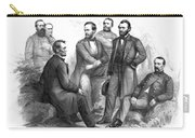 Lincoln And His Generals Black And White Carry-all Pouch by War Is Hell Store