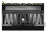 Lincoln At Night Bw Carry-all Pouch