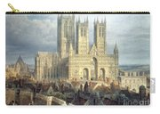 Lincoln Cathedral From The North West Carry-all Pouch by Frederick Mackenzie