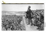 Lincoln Delivering The Gettysburg Address Carry-all Pouch by War Is Hell Store