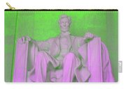 Lincoln In Green Carry-all Pouch