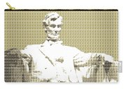 Lincoln Memorial - Gold Carry-all Pouch