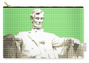 Lincoln Memorial - Green Carry-all Pouch
