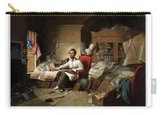 Lincoln Writing The Emancipation Proclamation Carry-all Pouch