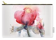 Linda's Rose Watercolor Carry-all Pouch