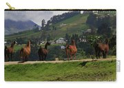 Line-dancing Llamas At Ingapirca Carry-all Pouch