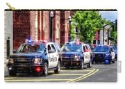 Line Of Police Cars Carry-all Pouch
