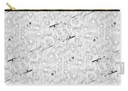 Linear Bulbs Pattern Lite Gray Carry-all Pouch