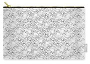 Linear Bulbs Pattern Whitesilver Black Carry-all Pouch