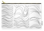 Lines 1-2-3 Black On White Carry-all Pouch
