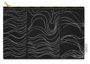 Lines 1-2-3 White On Black Carry-all Pouch