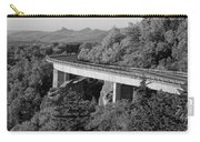 Linn Cove Viaduct Black And White Carry-all Pouch