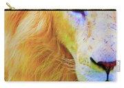 Lion Blue By Nicholas Nixo Efthimiou Carry-all Pouch