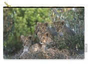 Lion Cubs Awaiting Mom Carry-all Pouch