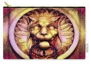Lion Door Knocker In Dusseldorf, Germany Carry-all Pouch