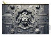 Lion Head Door Knocker Carry-all Pouch by Adam Romanowicz