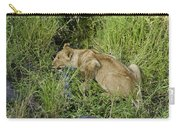 Lion In A Cool Glade Carry-all Pouch