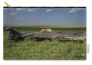Lion On A Log Carry-all Pouch