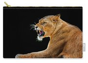 Lion On Black Carry-all Pouch