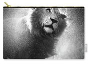 Lion Shaking Off Water Carry-all Pouch