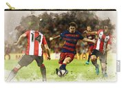 Lionel Messi Challenges The Athletic Bilbao Defense Carry-all Pouch