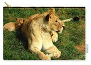 Lioness And Cub Carry-all Pouch