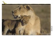 Lioness And Her Cub  Carry-all Pouch