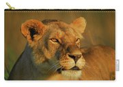 Lioness At Maasai Sunet Carry-all Pouch