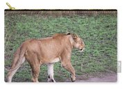 Lioness On Dirt Road Queen Elizabeth National Park, Uganda Carry-all Pouch