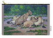 Lioness With Cubs Carry-all Pouch