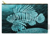 Lionfish On Blue Carry-all Pouch