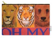Lions And Tigers And Bears Carry-all Pouch