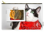 Lions Heart Cat Carry-all Pouch by Benny Marty
