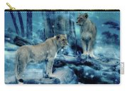 Lions Of The Mist Carry-all Pouch