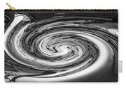 Liquefied Graffiti In Black And White Carry-all Pouch