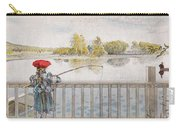 Lisbeth Angling. From A Home By Carl Larsson Carry-all Pouch