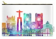 Lisbon Landmarks Watercolor Poster Carry-all Pouch