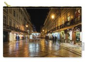 Lisbon Portugal Night Magic - Nighttime Shopping In Baixa Pombalina Carry-all Pouch