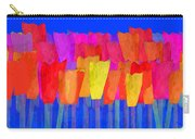 Lisse - Tulips Blue On Green Carry-all Pouch