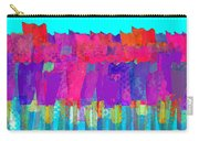 Lisse - Tulips Lighter Blue On Gree Carry-all Pouch