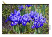 Little Baby Blue Irises Carry-all Pouch