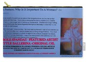 Little Ballerina By Carole Spandau Featured In Award Winning Online Article On Good Posture Mar 2010 Carry-all Pouch
