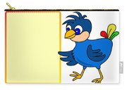 Little Bird With Message Board Carry-all Pouch