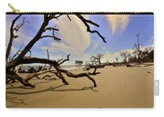 Little Blue And Driftwood Beach Carry-all Pouch by Lisa Wooten
