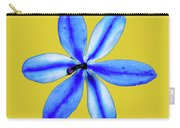Little Blue Flower On A Yellow Background Carry-all Pouch