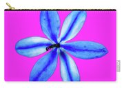 Little Blue Flower On Dark Pink Carry-all Pouch