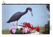 Little Blue Heron In Flower Pot Carry-all Pouch