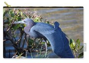 Little Blue Heron Sunbathing Carry-all Pouch