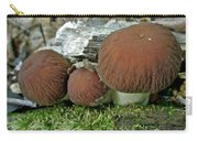 Little Brown Mushrooms In Moss Carry-all Pouch